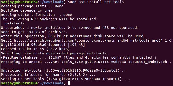 نصب netstat-tool