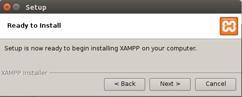 شروع نصب xampp